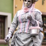 Costume gris rose antique