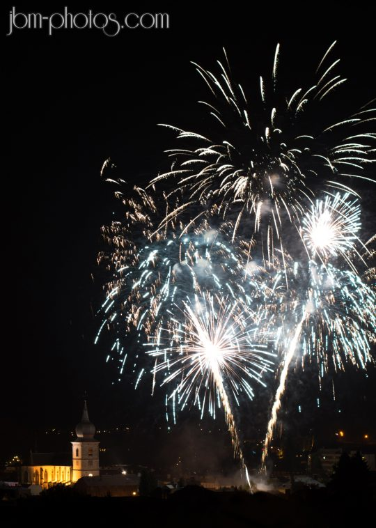 Feu d'artifice Remiremont fin de carnaval