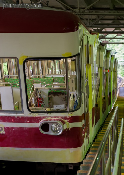 "Train ""cable-car"" menant en haut du Koyasan"