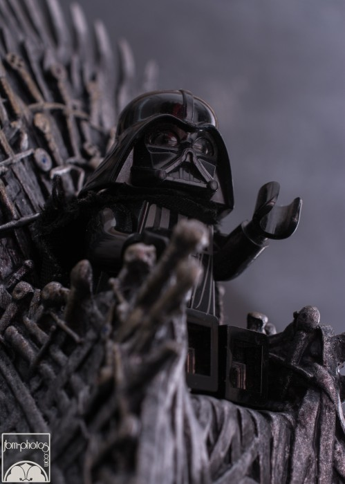 Lego Darth Vader on iron throne