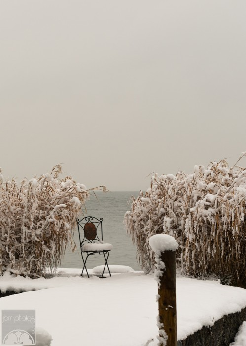 Fraueninsel, chaise sur les berges de Chiemsee